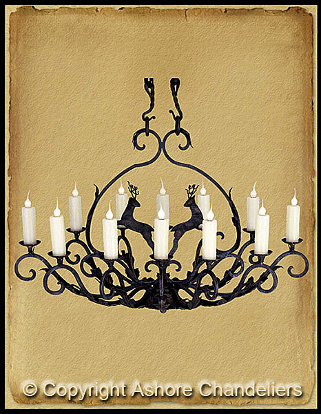 Ashore Chandeliers Handforged Iron Chandeliers 12